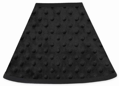 Solid Black Minky Dot Lamp Shade by Sweet Jojo Designs - Click to enlarge