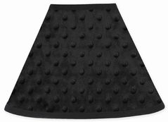 Solid Black Minky Dot Lamp Shade by Sweet Jojo Designs