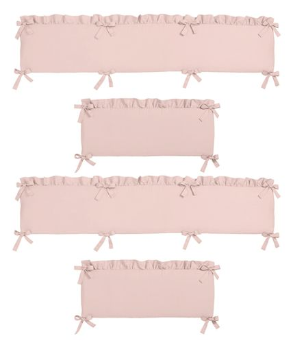 Solid Color Blush Pink Shabby Chic Baby Crib Bumper Pad for Harper Collection by Sweet Jojo Designs - Click to enlarge