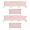 Solid Color Blush Pink Shabby Chic Baby Crib Bumper Pad for Harper Collection by Sweet Jojo Designs
