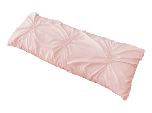 Solid Color Blush Pink Shabby Chic Body Pillow Case Cover For