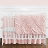 Solid Color Blush Pink Shabby Chic Harper Baby Girl Crib Bedding Set with Bumper by Sweet Jojo Designs - 9 pieces