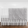Solid Color Grey Shabby Chic Harper Baby Girl Crib Bedding Set without Bumper by Sweet Jojo Designs - 4 pieces
