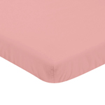 Solid Coral Baby Fitted Mini Portable Crib Sheet for Infant Nursery by Sweet Jojo Designs
