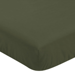 Solid Dark Green Baby or Toddler Fitted Crib Sheet for Woodland Camo Collection by Sweet Jojo Designs