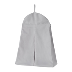 Solid Gray Nursery Diaper Stacker Storage Organizer