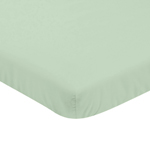 Solid Mint Baby Fitted Mini Portable Crib Sheet for Infant Nursery by Sweet Jojo Designs
