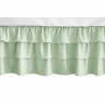 Solid Mint Green Girl Ruffled Tiered Baby Crib Bed Skirt Dust Ruffle for Woodsy Collection by Sweet Jojo Designs