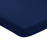 Solid Navy Baby Fitted Mini Portable Crib Sheet for Infant Nursery by Sweet Jojo Designs