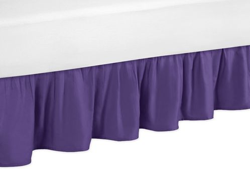 Solid Purple Queen Bed Skirt for Sloane Bedding Sets - Click to enlarge