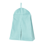 Solid Turquoise Blue Nursery Diaper Stacker Storage Organizer