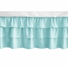 Solid Turquoise Girl Ruffled Tiered Baby Crib Bed Skirt Dust Ruffle for Feather Collection by Sweet Jojo Designs