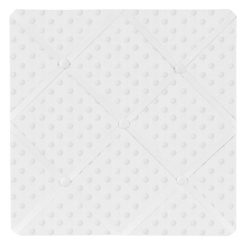 Solid White Minky Dot Fabric Memory/Memo Photo Bulletin Board by Sweet Jojo Designs - Click to enlarge