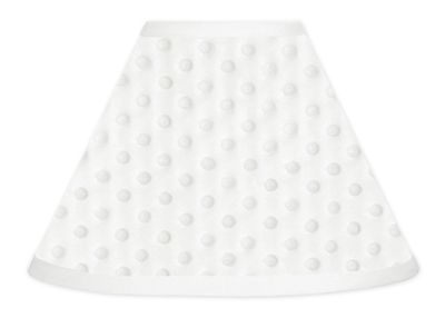 Solid White Minky Dot Lamp Shade by Sweet Jojo Designs - Click to enlarge