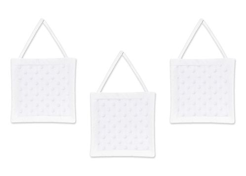 Solid White Minky Dot Wall Hanging Accessories by Sweet Jojo Designs - Click to enlarge