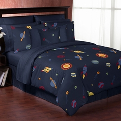 Space Galaxy 3pc Full / Queen Bedding Set Collection