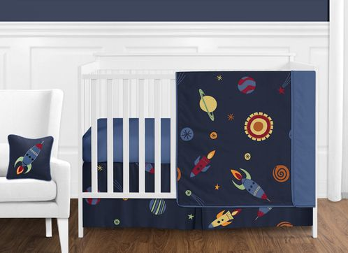 Space Galaxy Baby Bedding - 11pc Crib Set by Sweet Jojo Designs - Click to enlarge