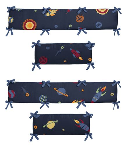 Space Galaxy Collection Crib Bumper by Sweet Jojo Designs - Click to enlarge