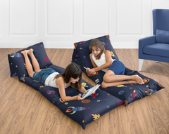 Space Galaxy Collection Kids Teen Floor Pillow Case Lounger Cushion Cover by Sweet Jojo Designs