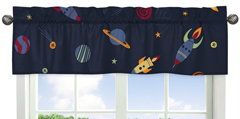 Space Galaxy Collection Window Valance by Sweet Jojo Designs
