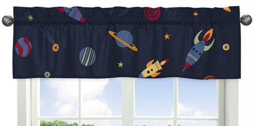 Space Galaxy�Collection Window Valance by Sweet Jojo Designs - Click to enlarge