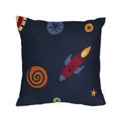 Space Galaxy Decorative Accent Throw Pillow by Sweet Jojo Designs