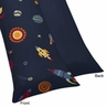 Space Galaxy Galactic Full Length Double Zippered Body Pillow Case Cover