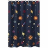 Space Galaxy Kids Bathroom Fabric Bath Shower Curtain
