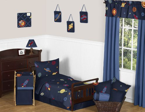 Space Galaxy Toddler Bedding - 5pc Set by Sweet Jojo Designs - Click to enlarge
