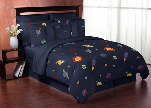 Space Galaxy 3pc Full / Queen Bedding Set Collection - Click to enlarge
