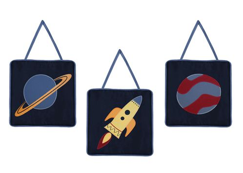 Space Galaxy Wall Hanging Accessories by Sweet Jojo Designs - Click to enlarge