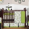 Spirodot Lime and Black Baby Bedding - 9 pc Crib Set by Sweet Jojo Designs