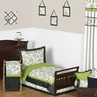 Spirodot Lime and Black Toddler Bedding - 5pc Set by Sweet Jojo Designs