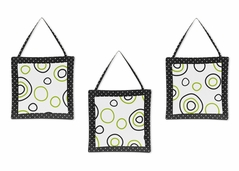 Spirodot Lime and Black Wall Hanging Accessories by Sweet Jojo Designs