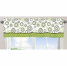 Spirodot Lime and Black�Window Valance by Sweet Jojo Designs