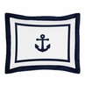 Standard Pillow Sham for Anchors Away Nautical Bedding by Sweet Jojo Designs