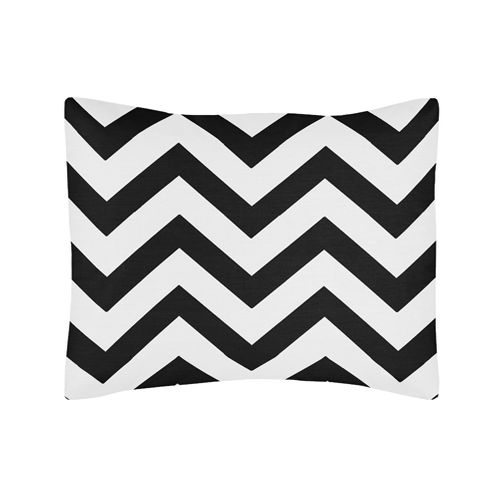 Standard Pillow Sham for Black and White Chevron Zig Zag Bedding by Sweet Jojo Designs - Click to enlarge