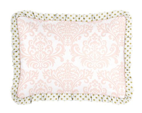 Standard Pillow Sham for Blush Pink, Gold and White Amelia Bedding by Sweet Jojo Designs - Click to enlarge