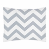 Standard Pillow Sham for Gray and White Chevron Zig Zag Bedding by Sweet Jojo Designs