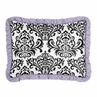 Standard Pillow Sham for Lavender, Purple, Black and White Sloane Bedding by Sweet Jojo Designs