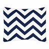 Standard Pillow Sham for Navy and White Chevron Zig Zag Bedding by Sweet Jojo Designs