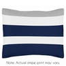Standard Pillow Sham for Navy Blue and Gray Stripe Bedding by Sweet Jojo Designs