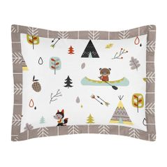 Standard Pillow Sham for Outdoor Adventure Bedding by Sweet Jojo Designs