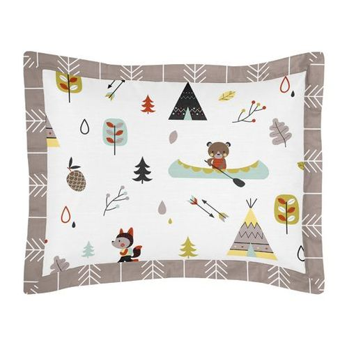 Standard Pillow Sham for Outdoor Adventure Bedding by Sweet Jojo Designs - Click to enlarge