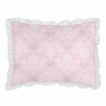 Standard Pillow Sham for Pink and Gray Alexa Butterfly Bedding by Sweet Jojo Designs