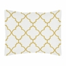 Standard Pillow Sham for White and Gold Trellis Bedding Collection