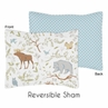 Standard Pillow Sham for Woodland Animal Toile Bedding by Sweet Jojo Designs