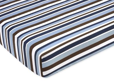 Starry Night Fitted Crib Sheet for Baby/Toddler Bedding Sets - Stripe Print - Click to enlarge