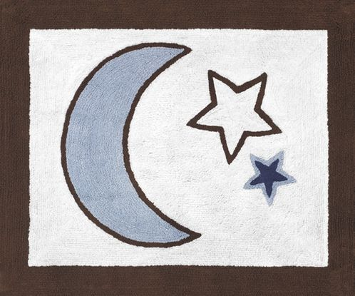 Starry Night Stars and Moons Accent Floor Rug by JoJo Designs - Click to enlarge