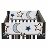 Starry Night Stars and Moons Baby Crib Side Rail Guard Covers by Sweet Jojo Designs - Set of 2
